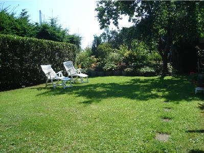 Ansicht des Garten