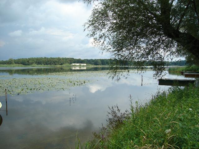 Blick auf den Semliner See in der Nähe der Ferienwohnung